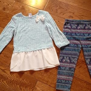 Sweet 2pc Girl's Top and Leggings
